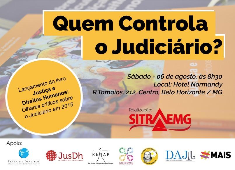 Entidades discutem democratização do poder judiciário, em Belo Horizonte